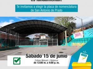 Se realizarán votaciones para elegir la placa de nomenclatura de ruralidad de San Antonio de Prado