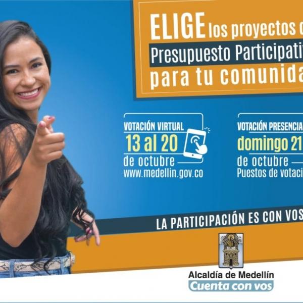Elige los proyectos de Cultura del presupuesto participativo.